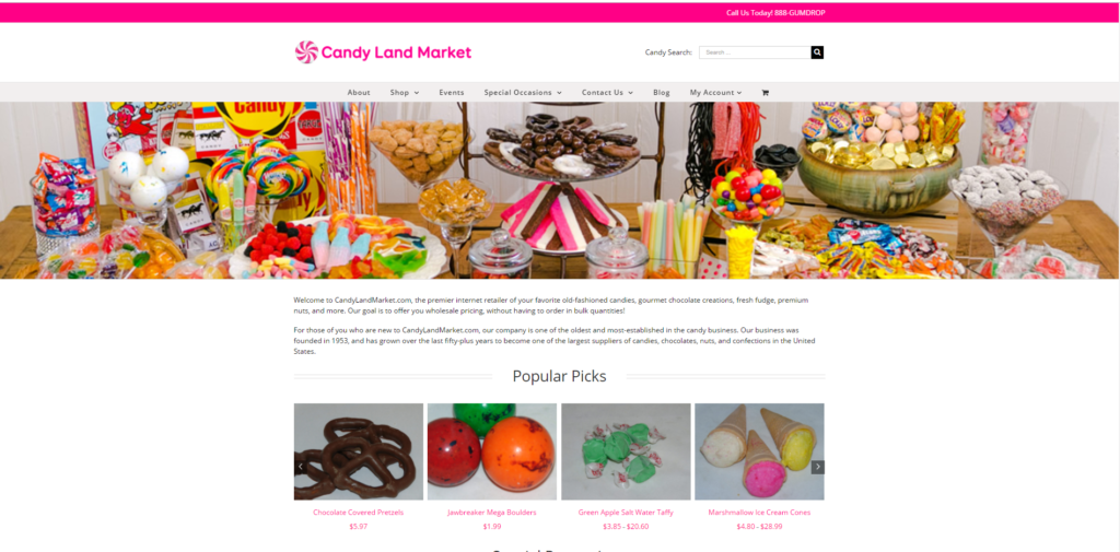 Candy Land Website Screenshot